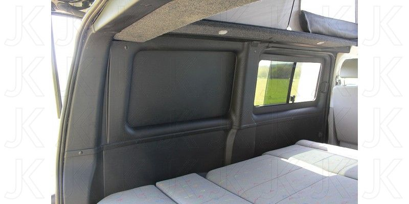 just kampers vw t5 black interior lining kit tailgate vw t5