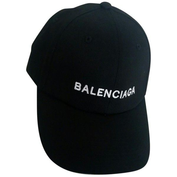 Hat BALENCIAGA (5,875 MXN) ❤ liked on Polyvore featuring accessories, hats, headwear, cotton hat and balenciaga