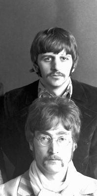 Richard Starkey and John Lennon