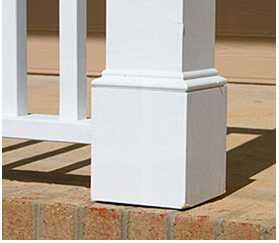 Porch Post Column Base Trim Detail Porch Posts Porch Column Wraps Front Porch Columns