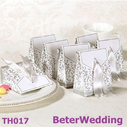 120pcs TH017 Silver Wedding Anniversary Favor Box Item