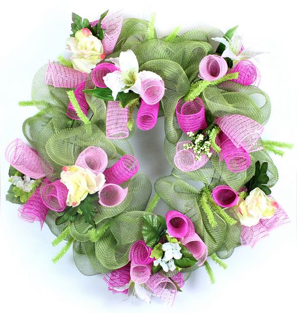 Photo of Moss Floral Deco Mesh wreath