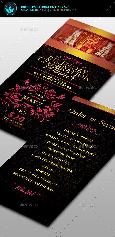 Birthday Celebration Dinner Flyer Template Birthday celebrations - birthday flyer template