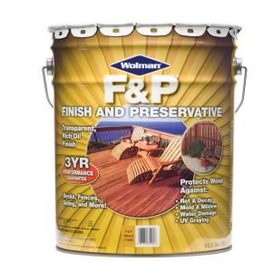 Wolman 5 Gal F P Natural Exterior Wood Stain Finish And Preservative 14395 At The Home Depot Exterior Wood Stain Staining Wood Exterior Wood