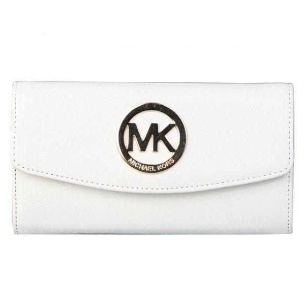 Michael Kors White Fulton Carryall Wallet