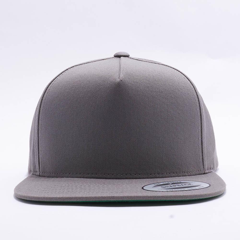 Wholesale Flexfit Yupoong 6007 5 Panel Cotton Twill Snapback Hat  Grey  d34b14b117c