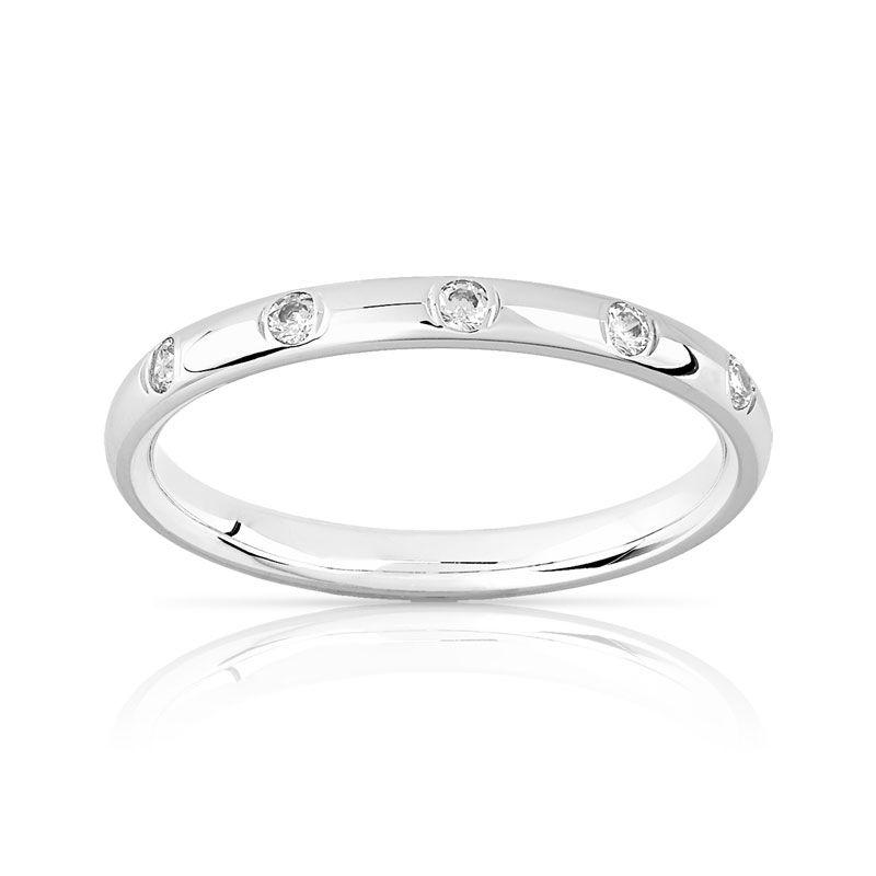 143c9817dac Alliance or 375 blanc diamant - Femme - Alliances - Maty