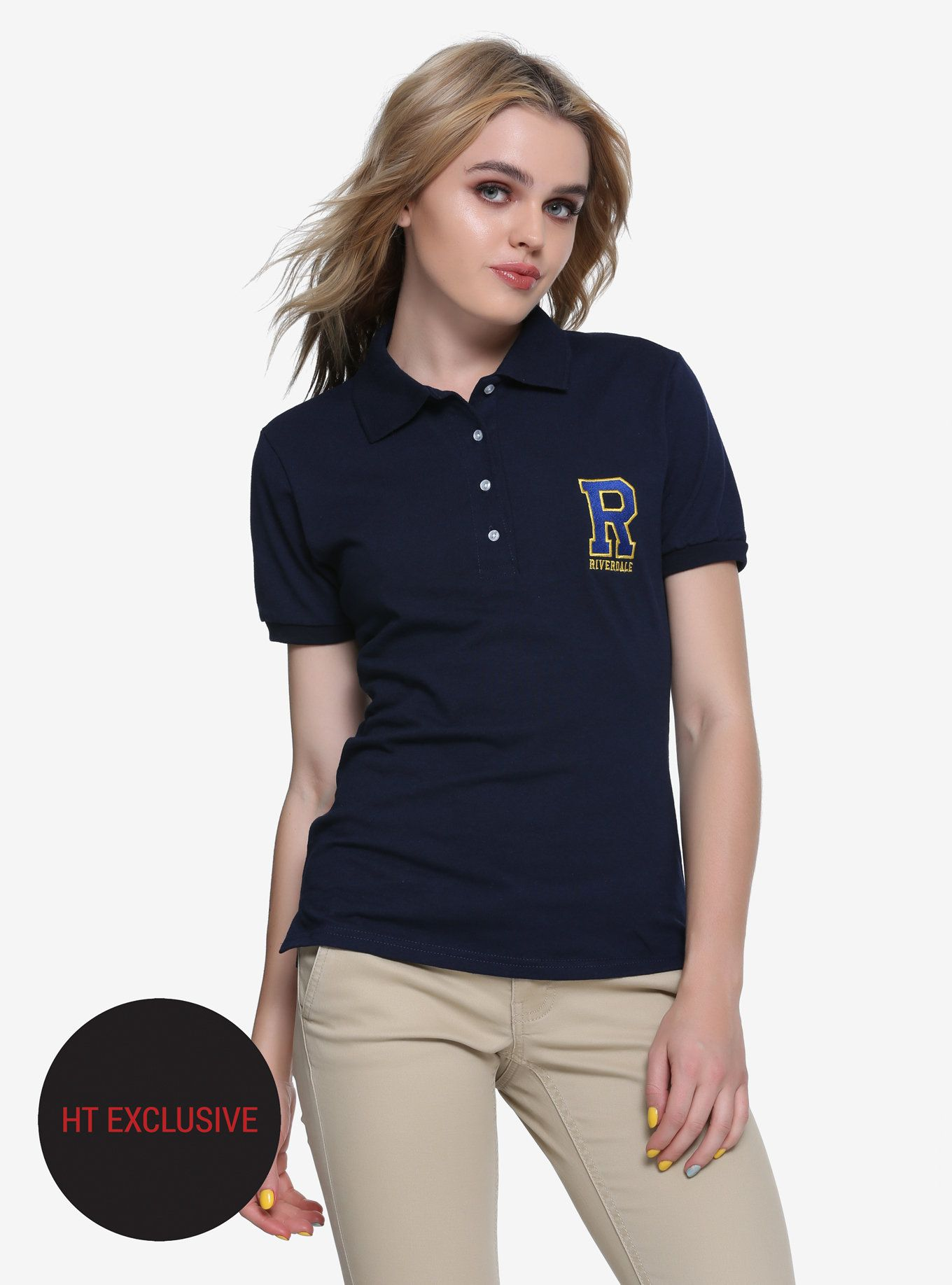 ecf27862 Riverdale Logo Girls Polo Shirt Hot Topic Exclusive | Pin of the Day ...