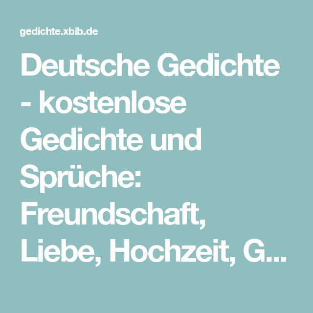 Deutsche Gedichte Kostenlose Gedichte Und Sprüche