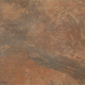 Floors 2000 11 Pack Jungle Orange With Brown Mottling Glazed Porcelain Indoor Outdoor Floor Tile