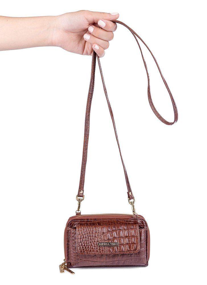 978a70098 Carteira feminina de couro com alça Mary whisky - Enluaze Loja Virtual |  Bolsas, mochilas