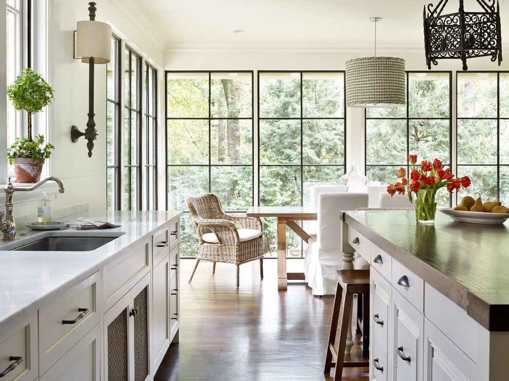 atlanta black windows home kitchen traditional with french colonial counter height stools4 leg on kitchen interior with window id=86447