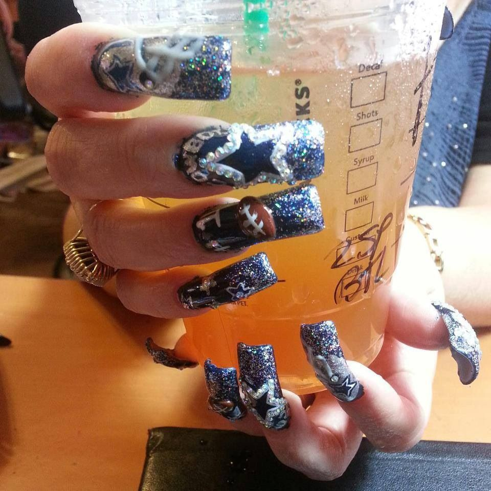 Cool Ass Nails !!! | Dallas Cowboys ❤ | Pinterest