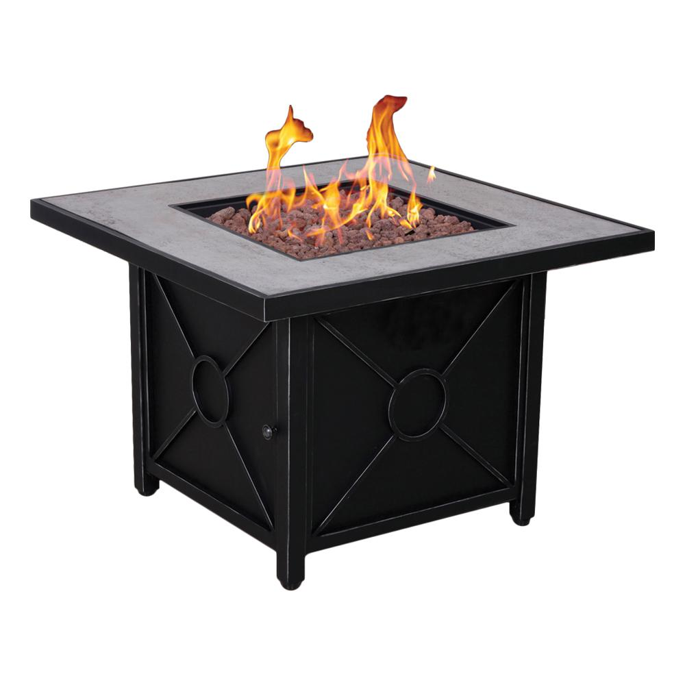 Afterglow Colton 34 5 In Steel Fire Pit In Textured Black Finish 506105f170263 With Images Gas Fire Pit Table Gas Firepit Fire Pit Table