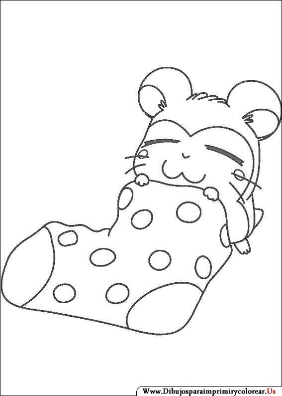 Dibujos de Hamtaro para Imprimir y Colorear | Anime | Pinterest