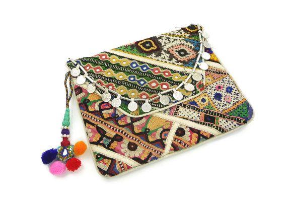 Banjara Coin Clutch OOAK Bohemian Gypsy by IsabellaRaeJewelry