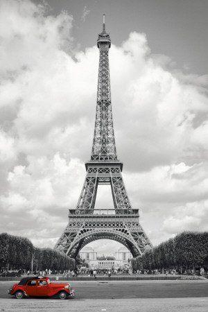 Poster Paris Eiffelturm Und Rotes Auto Davor Grosse 61 X 91 5 Cm Maxiposter Amazon De Kuche Haushalt Paris Eiffelturm Paris Urlaub Eiffelturm