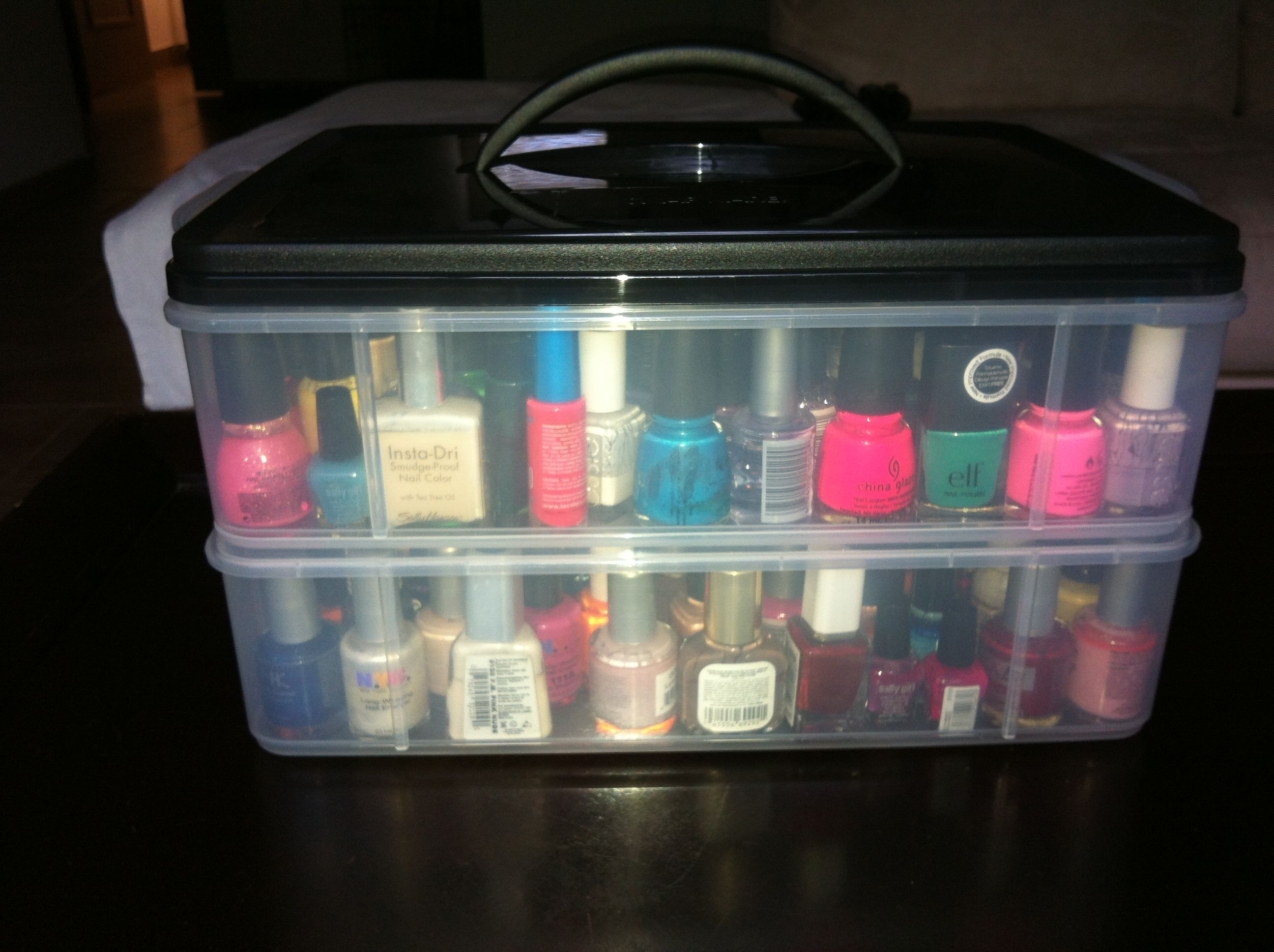 Snapware Stackable box used for organizing nail polish... $13.99 ...