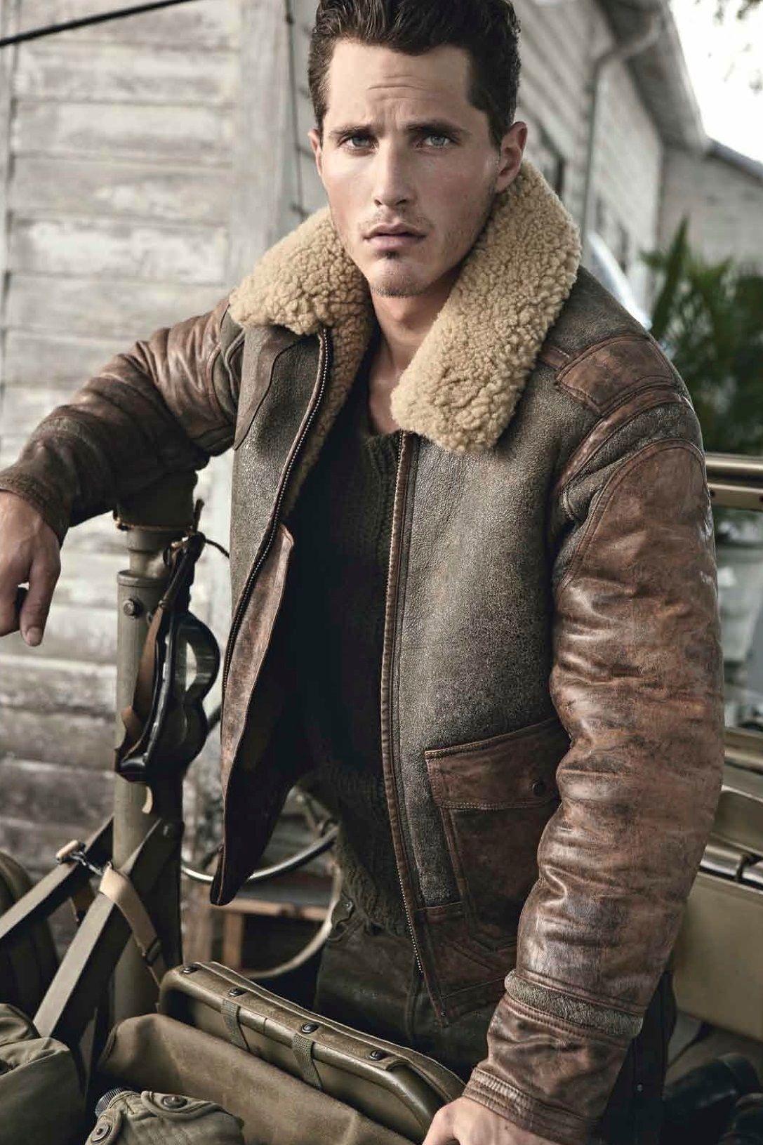 Sheepskin Shearling JacketLederjacke Leather Man In 8nwPkNX0O