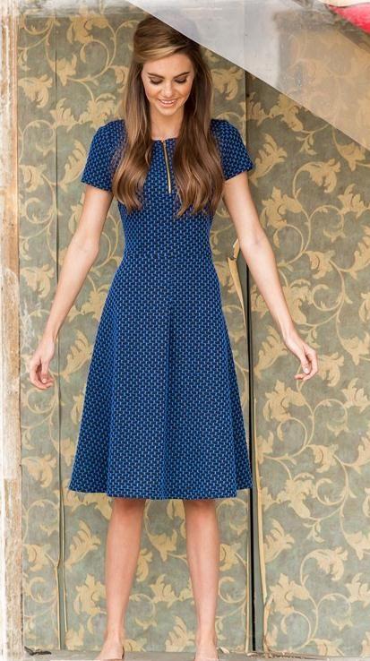 873391001f7 blue simple dress