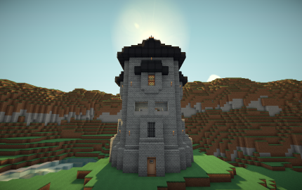 Medieval Stonebrick Watchtower Creation 104 Watch Tower