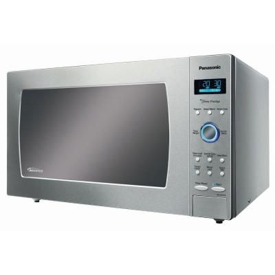 Panasonic Genius Prestige Luxury Size 2 Cu Ft Countertop Microwave In Stainless Steel With