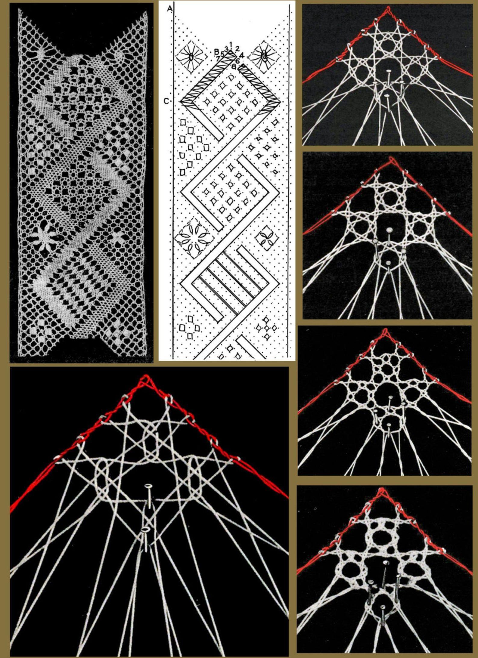 Manuale di pizzo a tombolo fatto mano c.1931 di Margaret Maidment - Vintage Lace Pillow istruzioni libro riproduzione