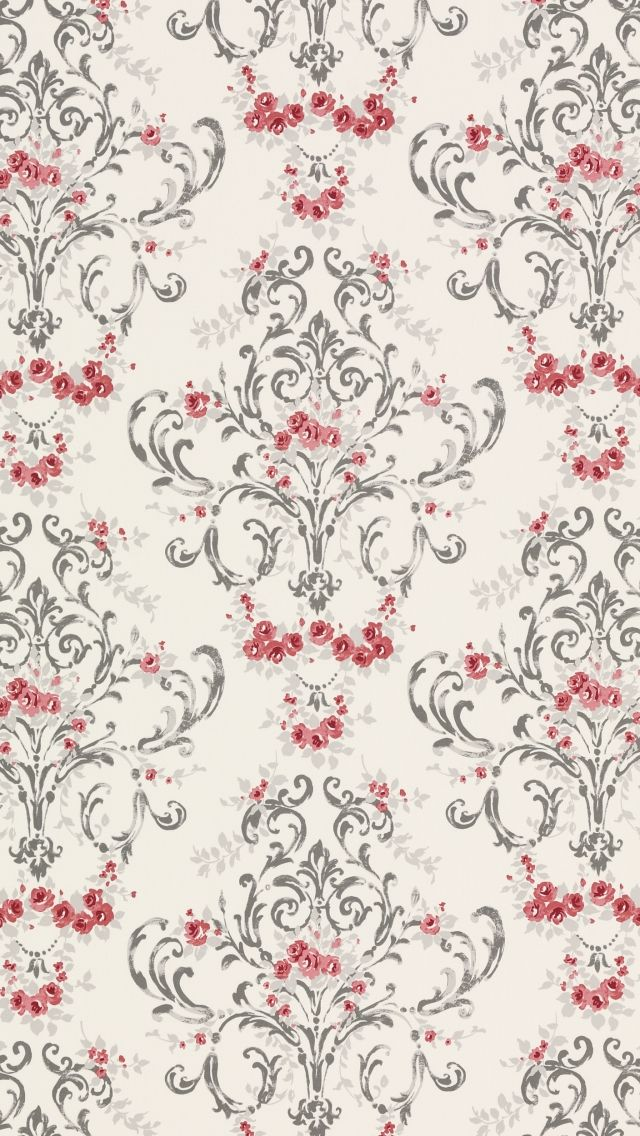 For Mbath CurtainMansfield Print Cotton Fabric Cranberry