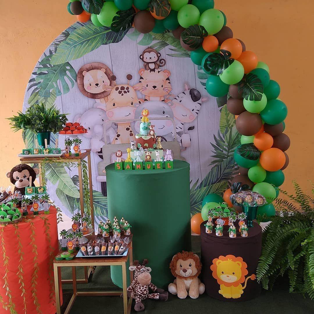 Festa Safari Uma Mini Table Super Fofa Reposted