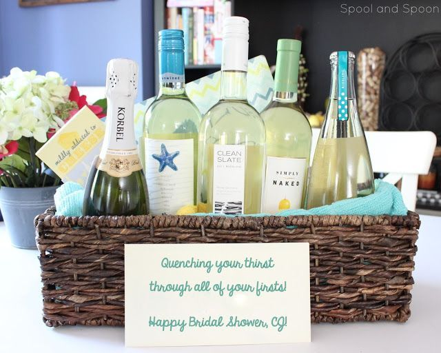 """Wedding Wine Gift Basket: """"Quenching Your Thirst Through All Of Your Firsts"""" Wine"""