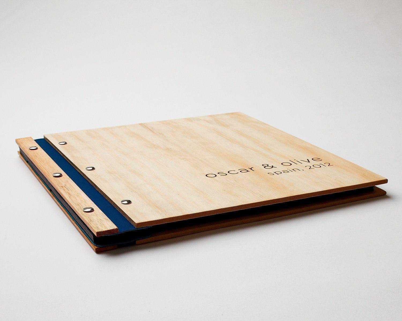 wood photo album // wedding memory holiday keepsake