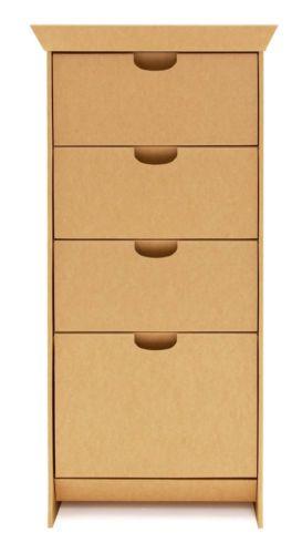 Best Smartdeco 4 Drawer Cardboard Dresser Natural Kids Rooms 640 x 480