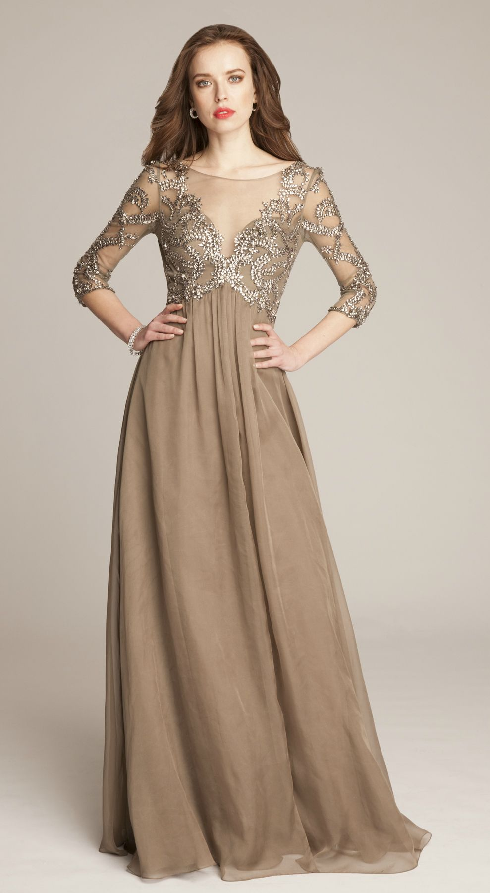 Taupe Mother of the Bride Dresses