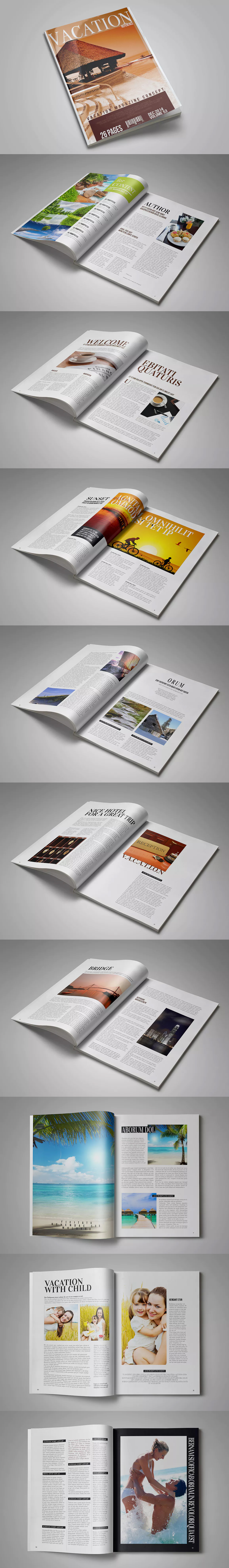 Multipurpose Magazine Template InDesign INDD A4 | Magazine Templates ...