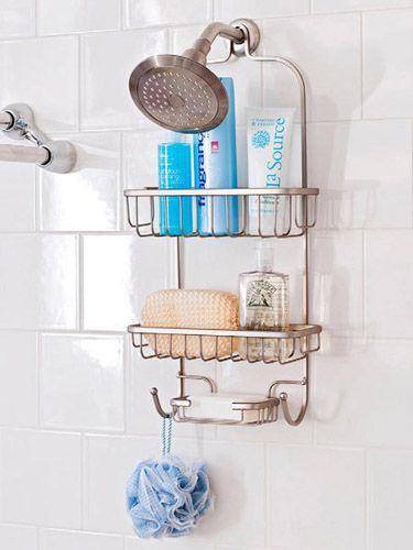 20 Bathroom Organizing Ideas Smart Women Use To Get Out The Door Faster Small Bathroom Organization Tiny Bathroom Shower Organization