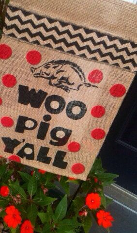 RAZORBACKS Arkansas Football Woo Pig Sooie by ELouiseBoutique