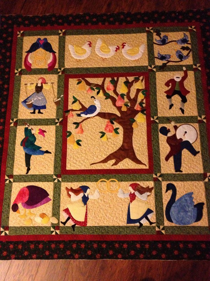 I Am Making This 12 Days Of Christmas Quilt Loving It Quilts Christmas Quilts Christmas Quilt