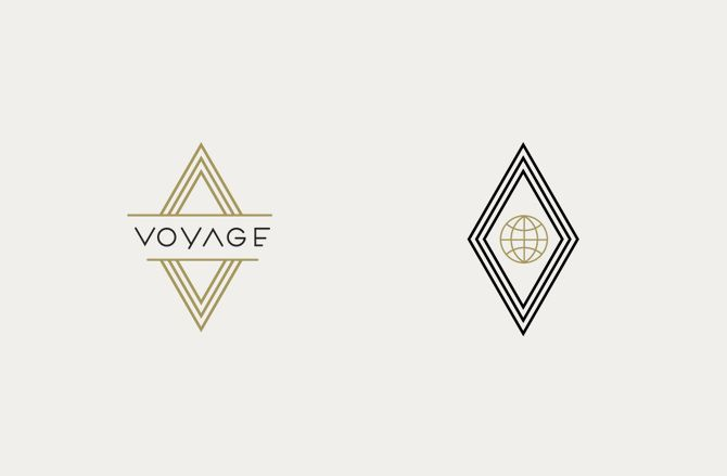 Voyage Estudio Yeye Smart Beautyy Art Deco Logo Illustration Design Art Deco Fashion
