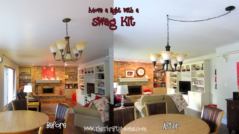 Spray paint a light fixture and move it with a swag kit my spray paint a light fixture and move it with a swag kit aloadofball Choice Image