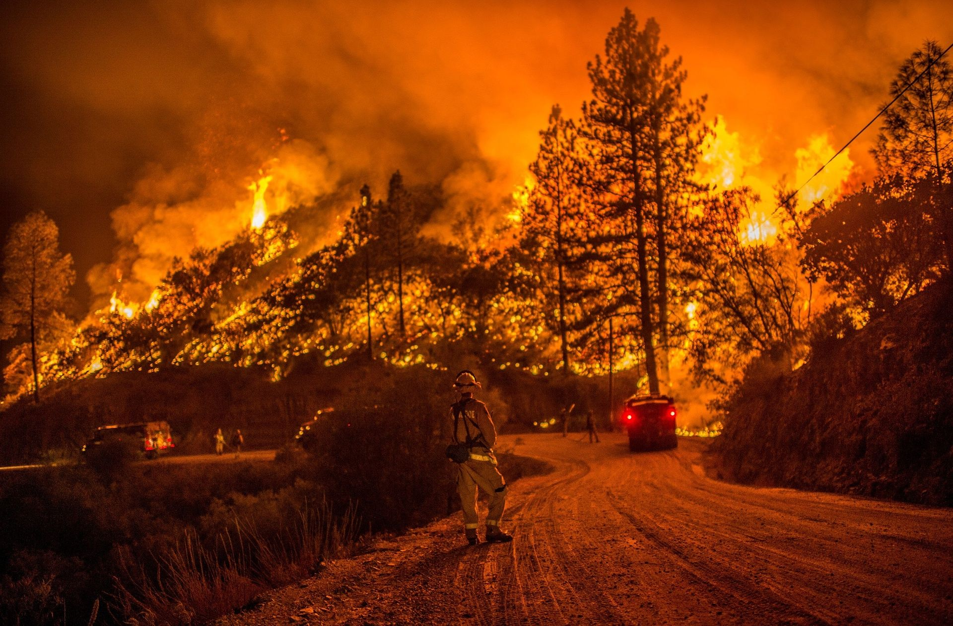 California Residents Forced To Flee As Wildfire Devastates North