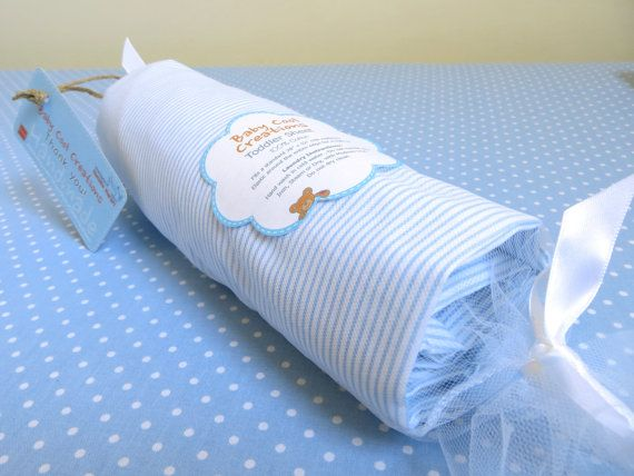 Striped?? Fitted Crib/Toddler Sheet  Blue shades   You by BabyCoolCreations