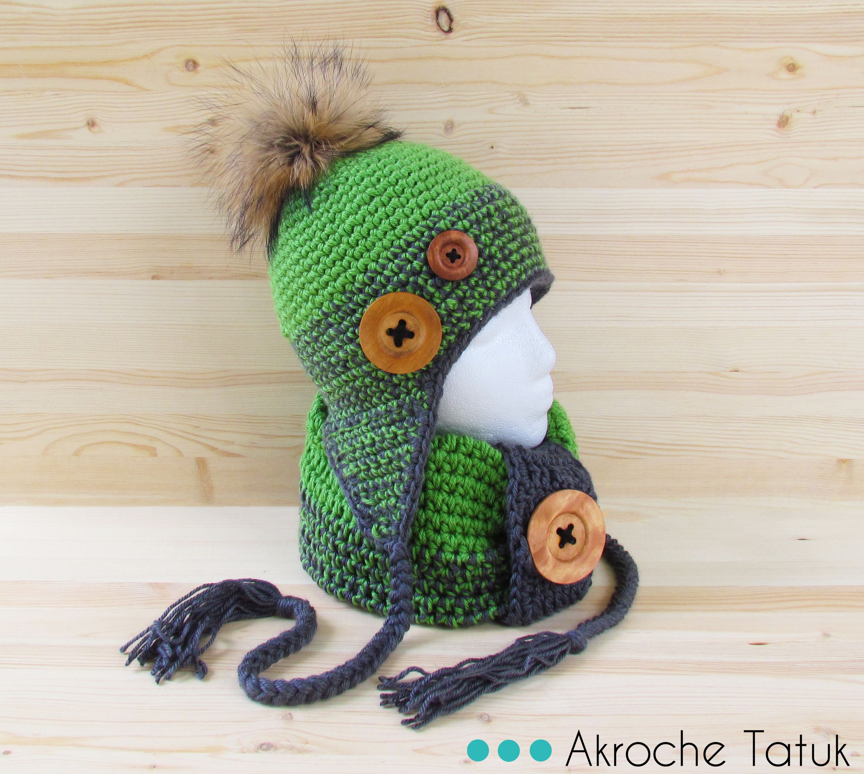 crochet hat and cowl pattern tuque et cache cou patron au. Black Bedroom Furniture Sets. Home Design Ideas