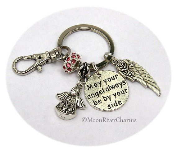 Angel Keychain Guardian Angel Purse Charm Clip On Angel By Your Side