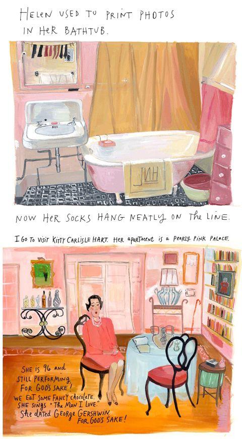 Helen used to print photos in her bath tub. Maira KalmanDavid ...