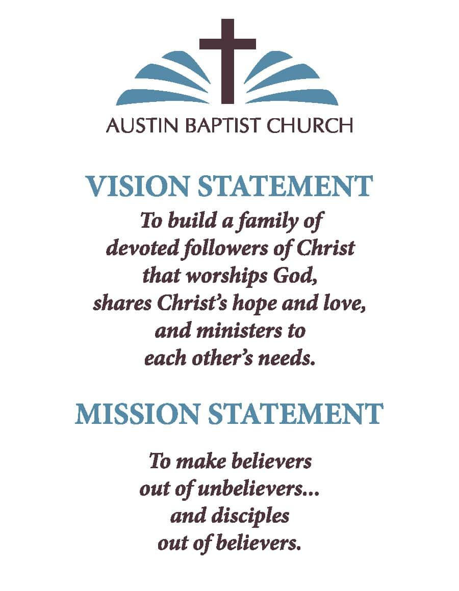 Examples Of Christian Mission Statements Christian Missions Mission Statement Vision Statement
