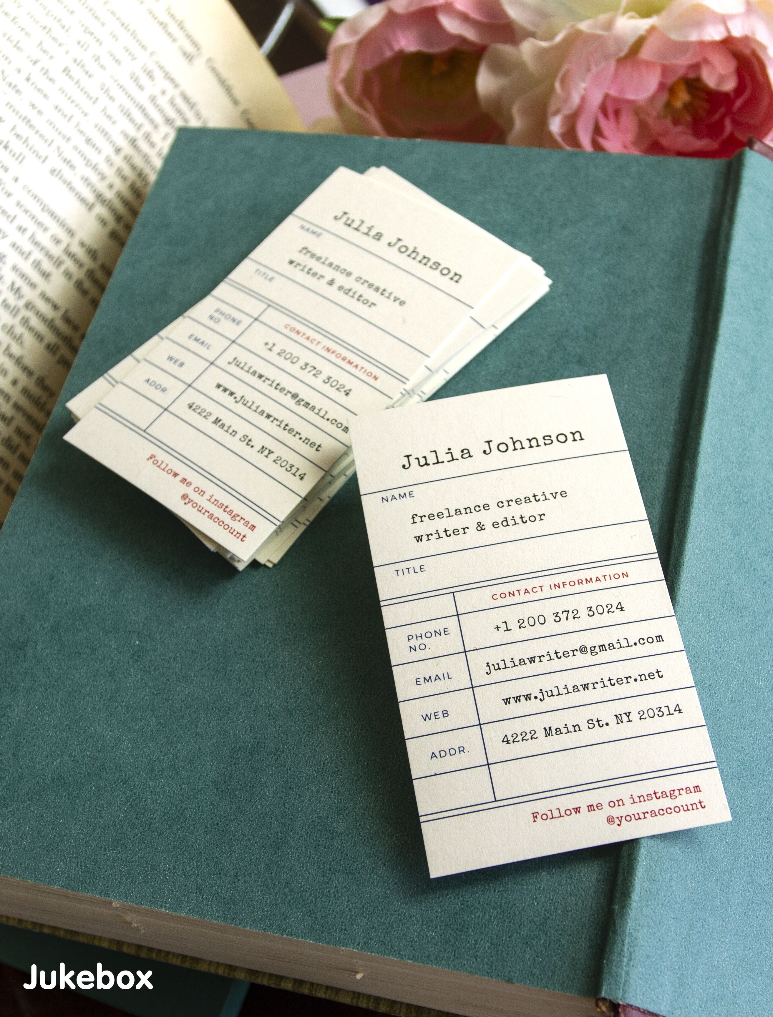 Create Your Very Own Library Card Business Cards Its Easy And Free