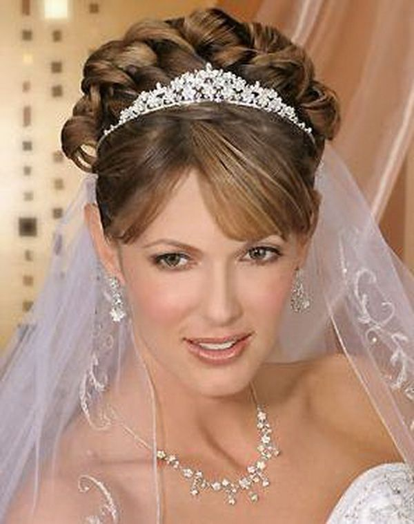 Updo Wedding Hairstyles For Short Hair With Veil Addicfashion
