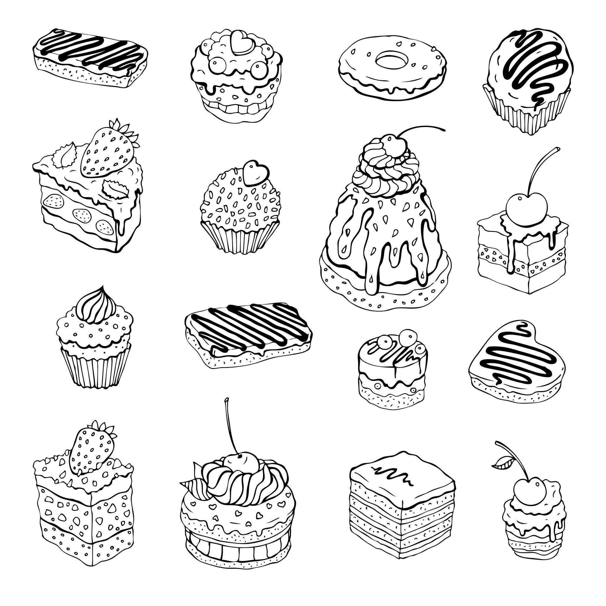 Coloriage De Patisserie Coloriage Gateau Dessin Cupcake Gateau Dessin