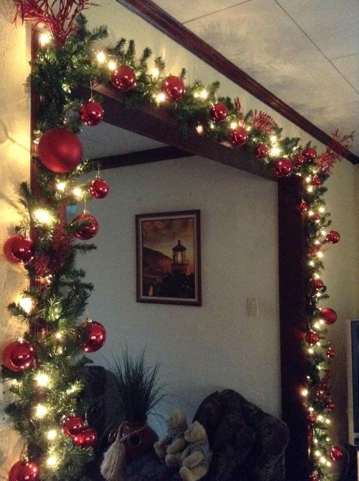 Torbogen Weihnachtsschmuck Jahreszeiten Einfach Winterurlaub Badezimmer Dekor Girlanden Rhpin... #bathroomdecoration