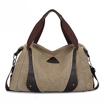 9d96b1627ff ... Bags Totes. Aibag Women s Retro Casual Canvas Weekend Travel Shoulder  Bag